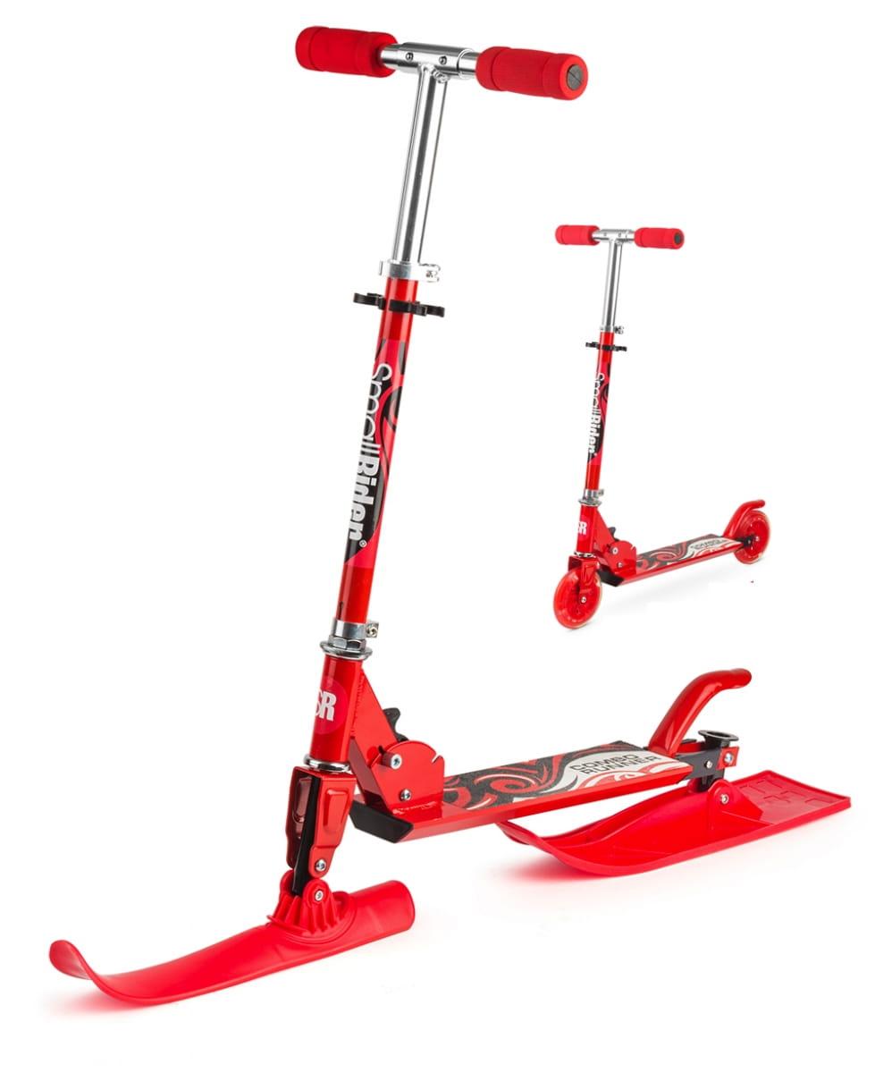 Самокат-снегокат с лыжами и колесами Small Rider Combo Runner 120  красный - Снегокаты и санки