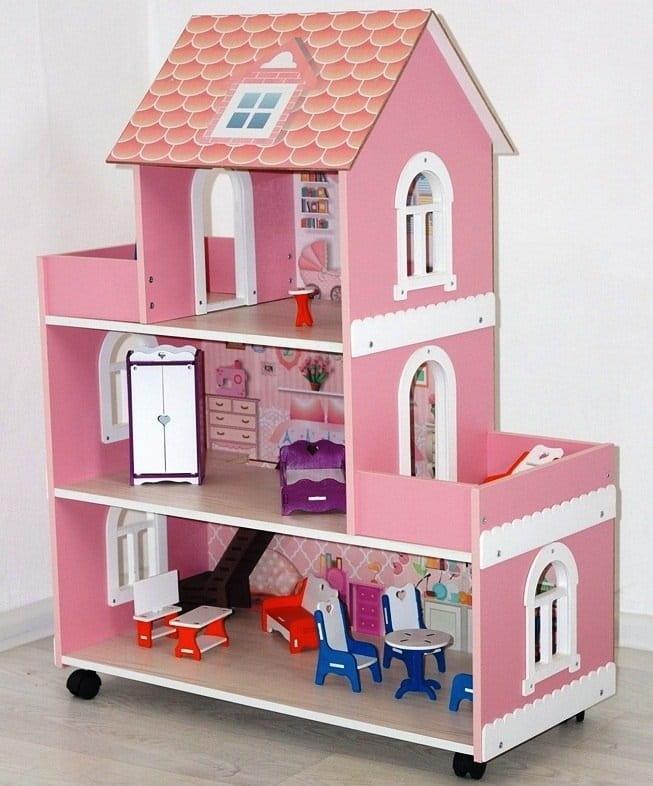 Кукольный домик Фабрика домиков Roz_schastie_mini Розовое счастье