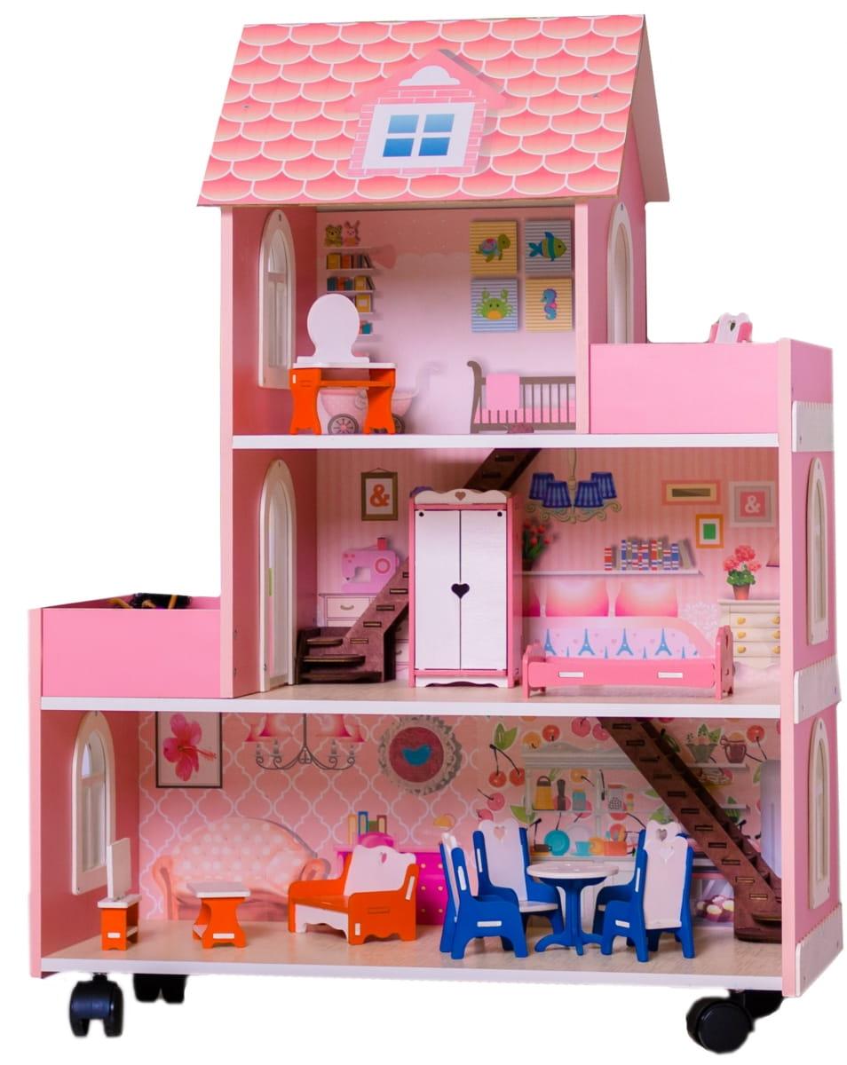 Кукольный домик ФАБРИКА ДОМИКОВ Розовое счастье