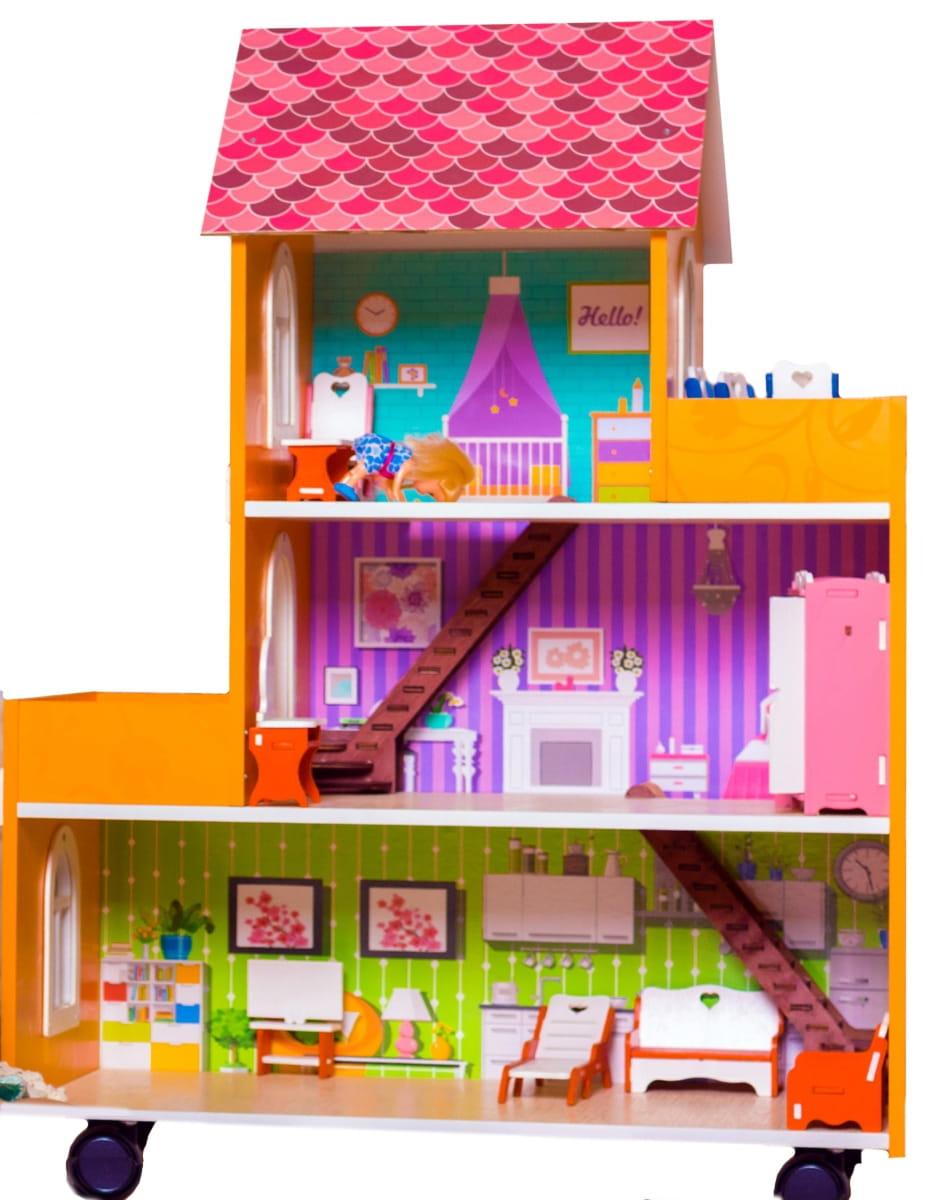 Кукольный домик ФАБРИКА ДОМИКОВ Оранжевое настроение