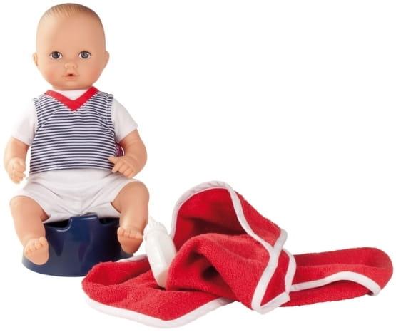 Кукла-пупс GOTZ Аквини - 33 см (в полосатой футболке)