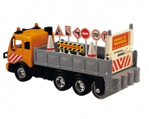 Купить Большегрузная техника Dickie Грузовик с дорожными знаками 25 см в интернет магазине игрушек и детских товаров
