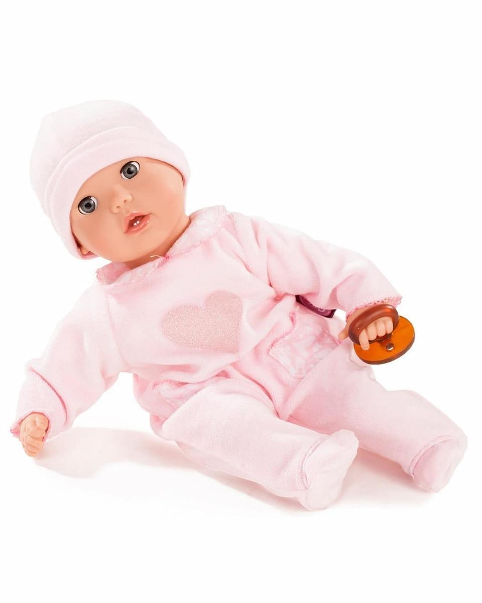 Кукла-пупс GOTZ Маффин - 33 см (в розовом комбинезончике и шапочке)