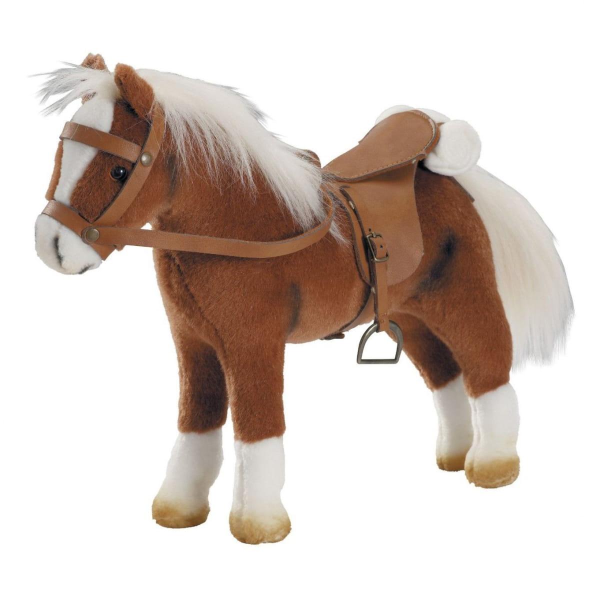 Лошадка для кукол Gotz 3401099 - коричневая (с седлом и уздечкой)