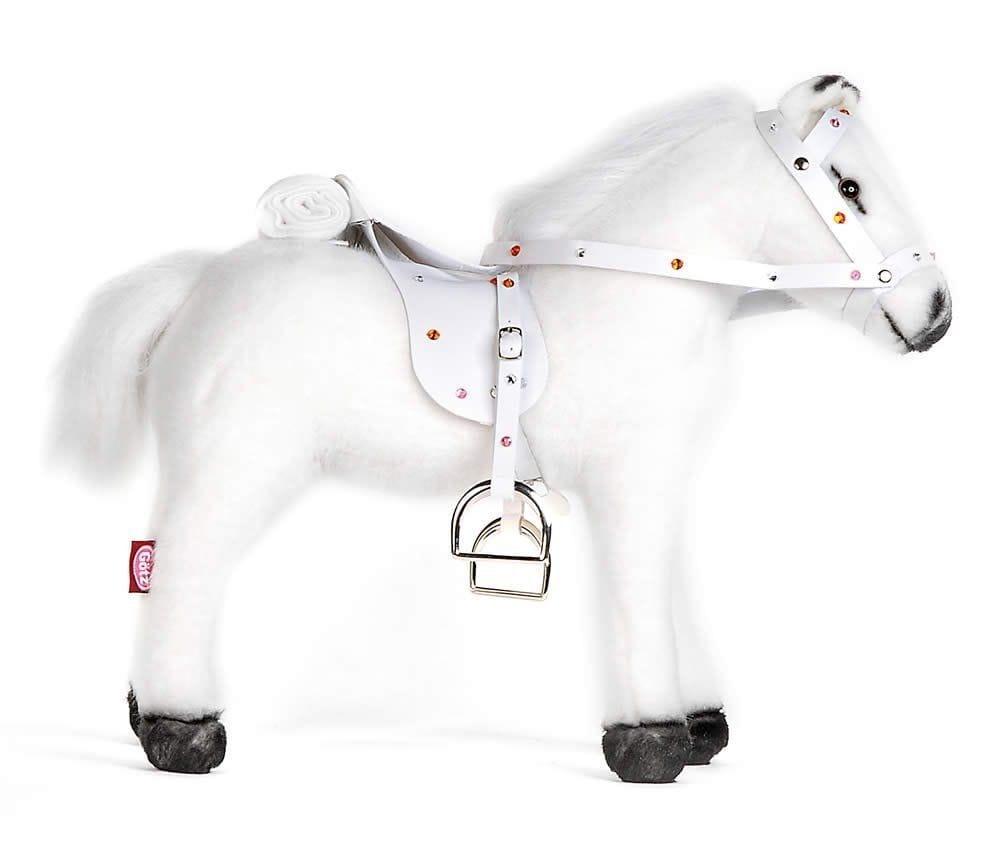 Лошадка для кукол Gotz 3401485 - белая (с седлом и уздечкой)
