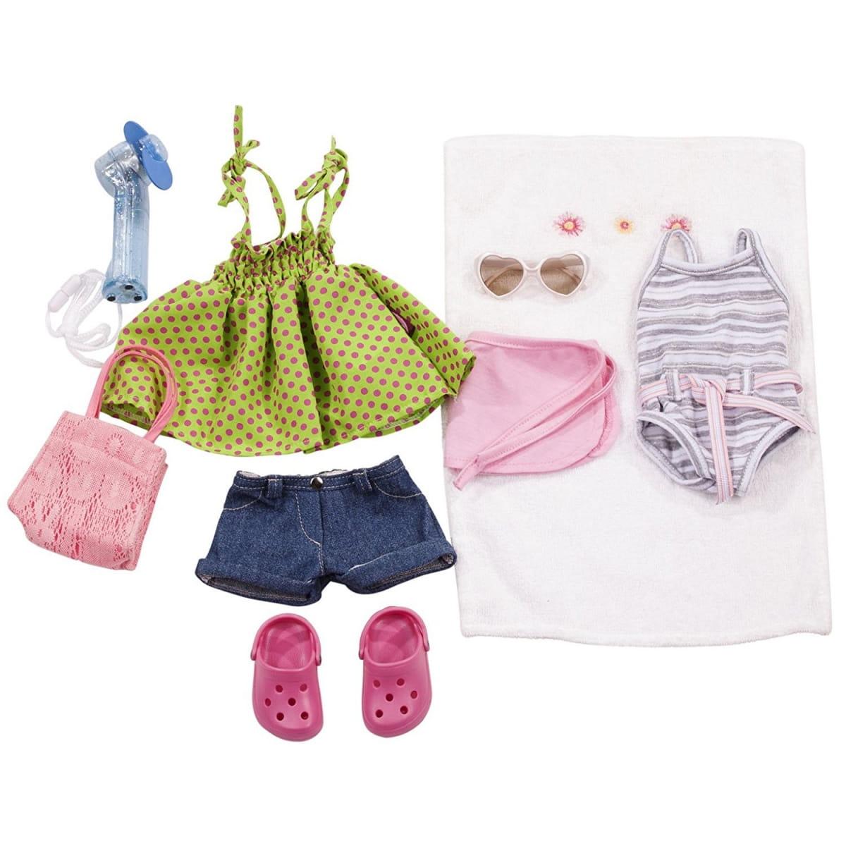Летняя одежда для кукол Gotz с аксессуарами - 10 предметов (46-50 см)