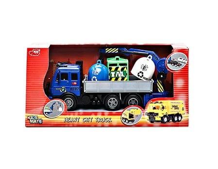 Купить Большегрузная техника Dickie Автокран с коробками 25 см в интернет магазине игрушек и детских товаров