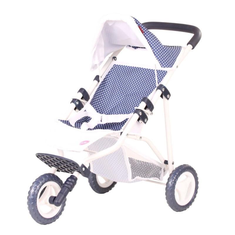 Прогулочная коляска для кукол Gotz - синяя в горошек