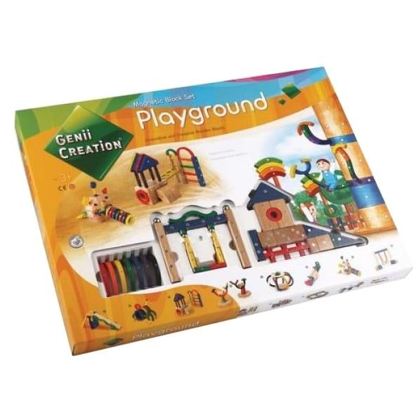 Магнитный конструктор Genii Creation Детская площадка -173 детали - Магнитные конструкторы