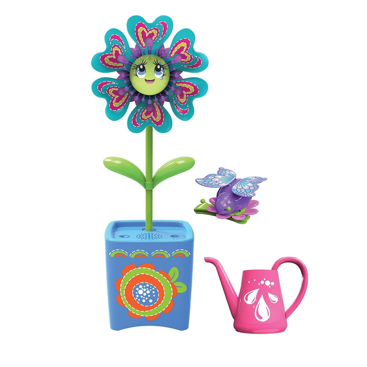 Интерактивная игрушка Magic Blooms Волшебный цветок с заколкой и жучком (Silverlit)