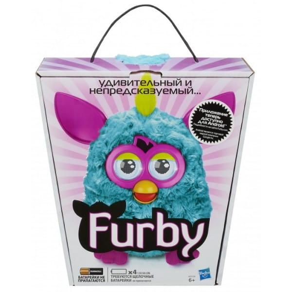Купить Интерактивная игрушка Furby (Ферби) с хохолком голубой (Hasbro) в интернет магазине игрушек и детских товаров