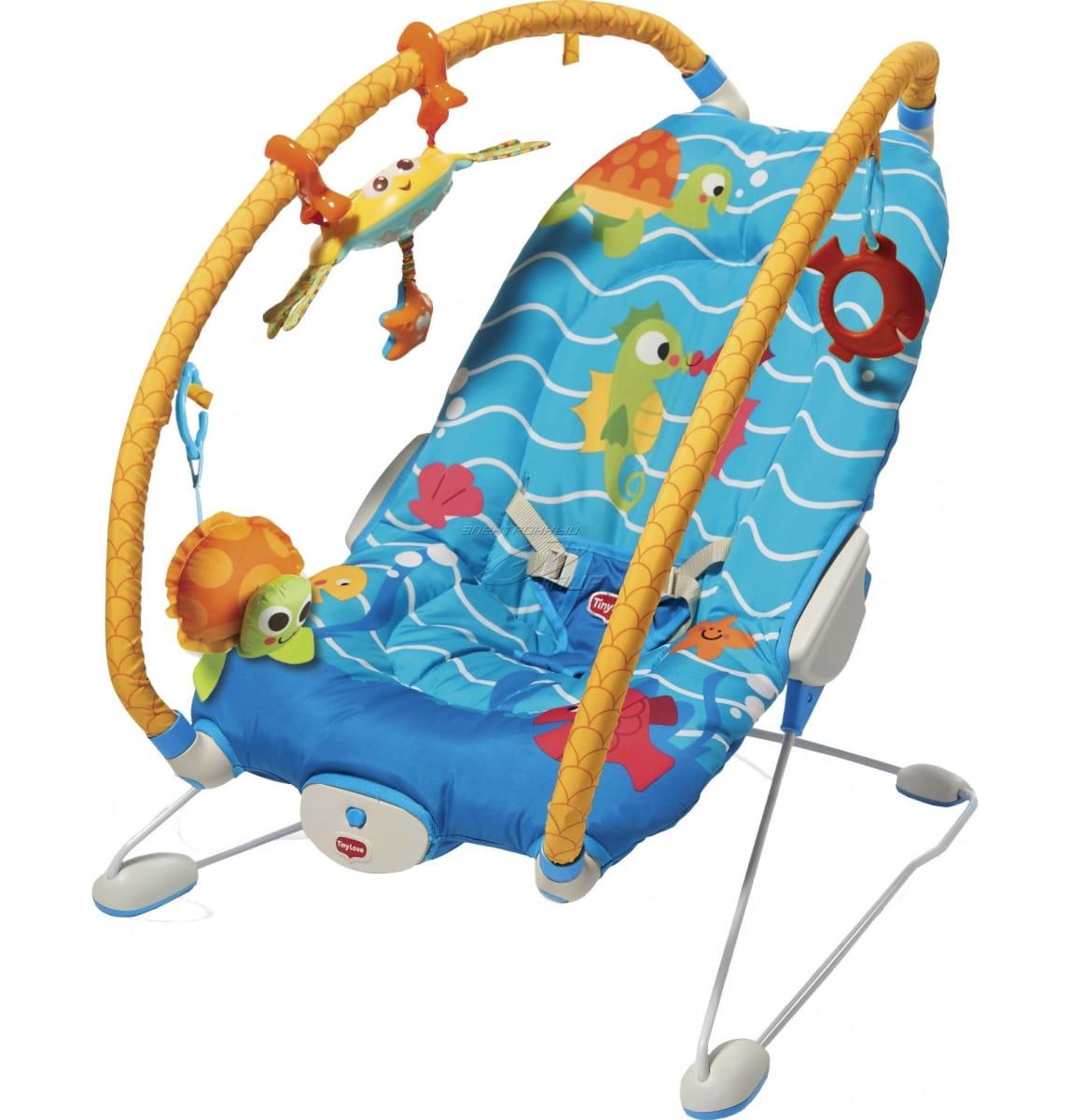 Баунсер-шезлонг TINY LOVE Подводный мир - Кресла-качалки