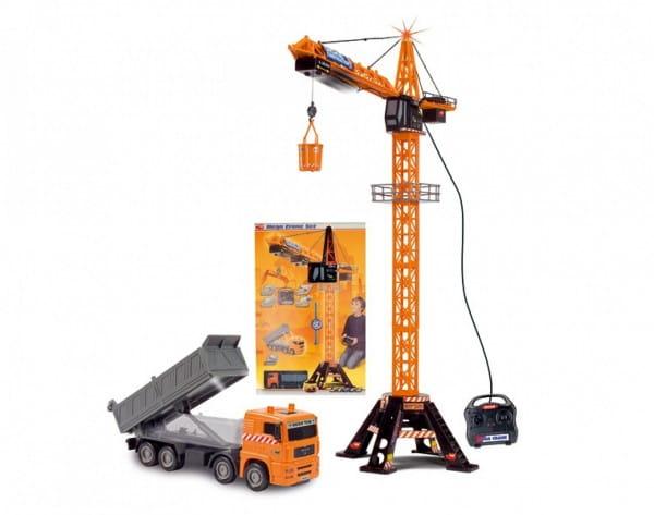 Купить Подъемный мега-кран с самосвалом Dickie 120 см в интернет магазине игрушек и детских товаров