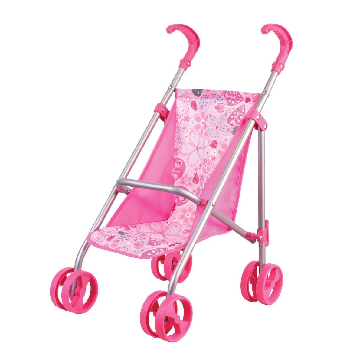Прогулочная коляска для кукол Gulliver 22-11005 Классическая - розовая
