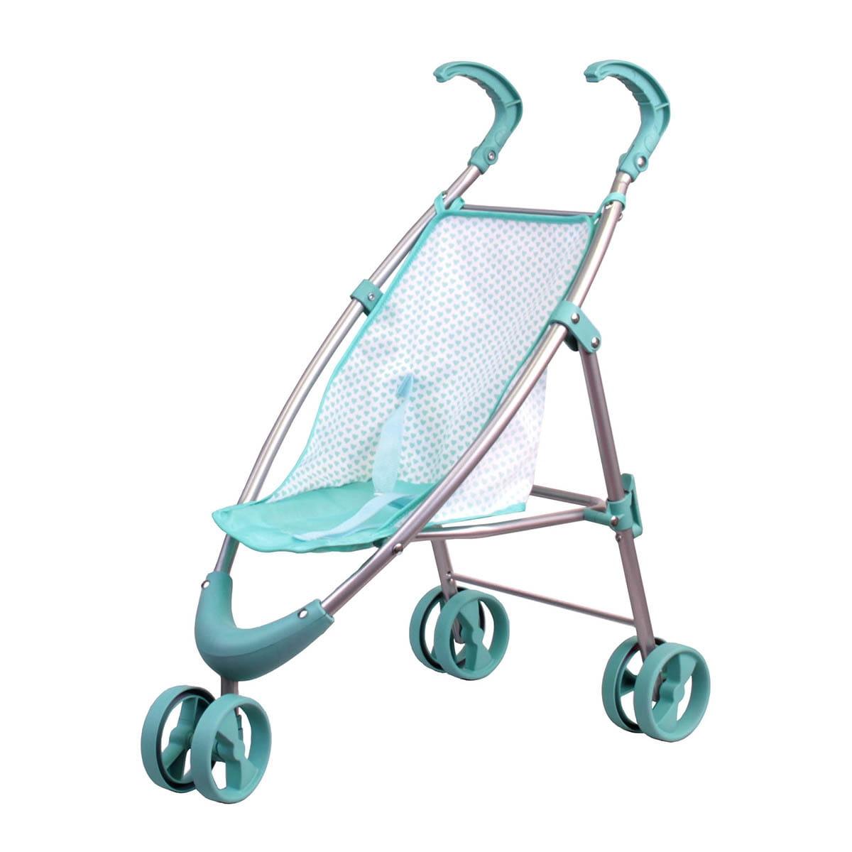 Прогулочная коляска для кукол Gulliver 22-12030-1 с вращающимися колесами - мятная