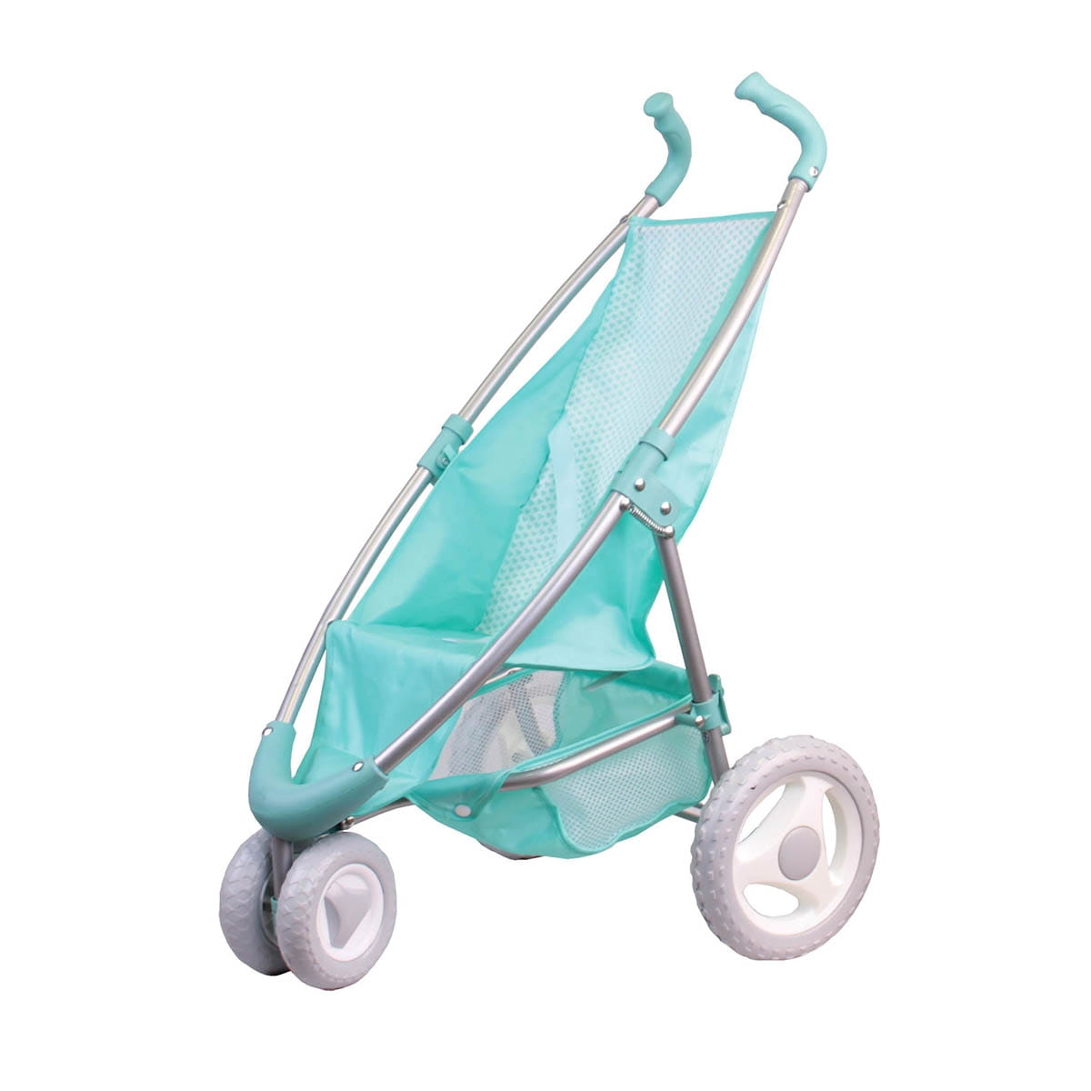 Прогулочная коляска для кукол GULLIVER с поворотными колесами - мятная