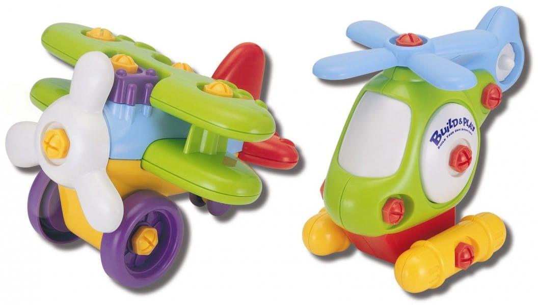 Игровой набор Build and Play Аэроплан и вертолет (KEENWAY)