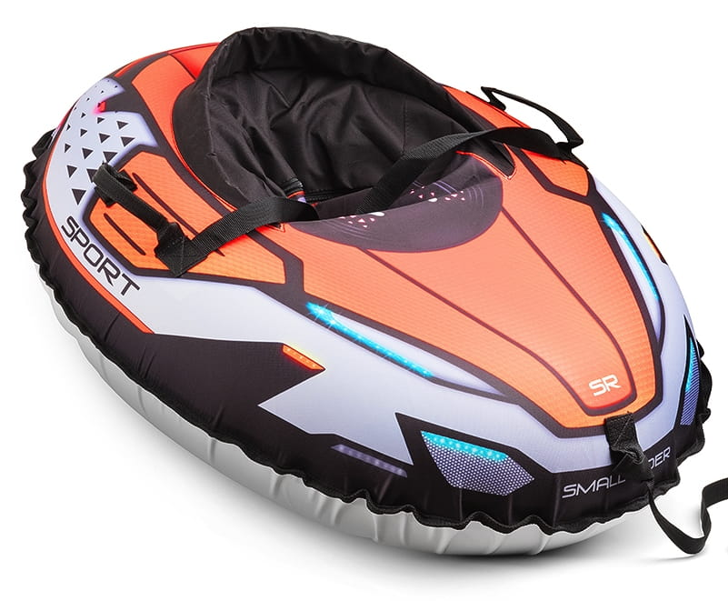 Надувные санки-тюбинг с сиденьем и ремнями SMALL RIDER Asteroid Sport  оранжевые - Ватрушки