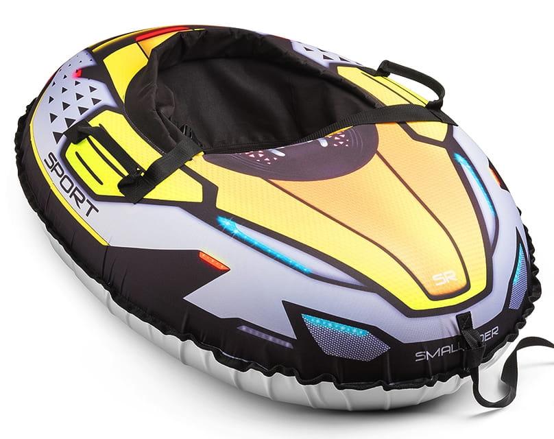 Надувные санки-тюбинг с сиденьем и ремнями Small Rider 1373616 Asteroid Sport - лайм