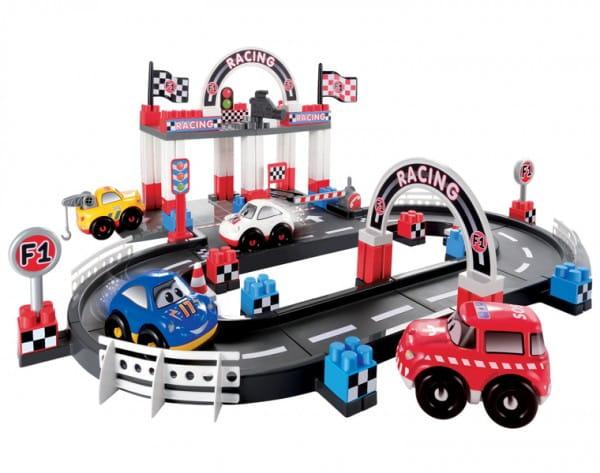 Купить Конструктор Abrick Гоночный трек - 94 детали (Ecoiffier) в интернет магазине игрушек и детских товаров