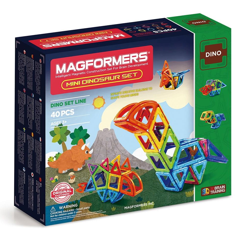 Магнитный конструктор Magformers Mini Dinosaur set  40 деталей - Магнитные конструкторы