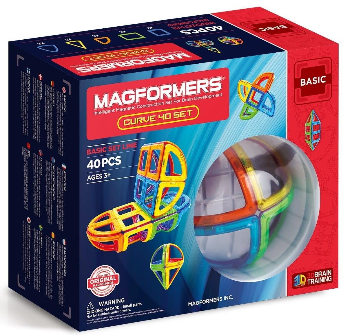 Магнитный конструктор Magformers Curve 40 Set  40 деталей - Магнитные конструкторы