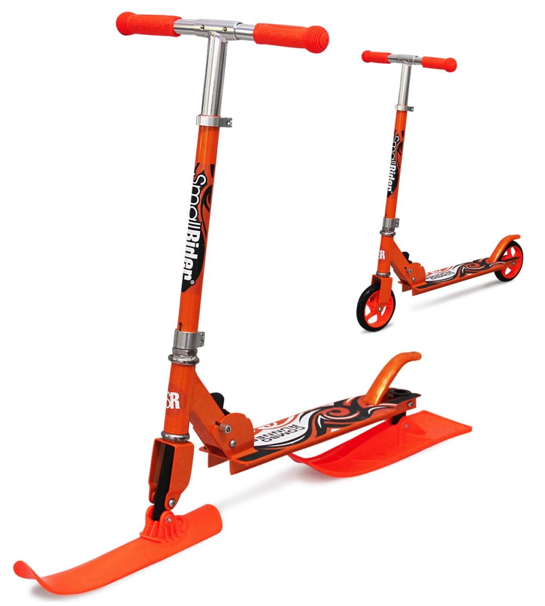 Самокат-снегокат с лыжами и колесами Small Rider Combo Runner 145  оранжевый - Снегокаты и санки