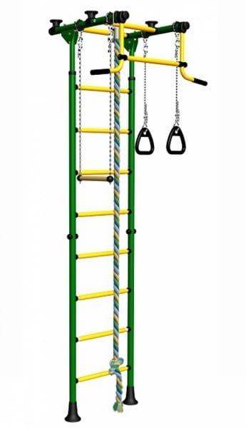 Детский спортивный комплекс Kampfer F0000000194 Strong kid Ceiling - зелено-желтый (высота +26 см)