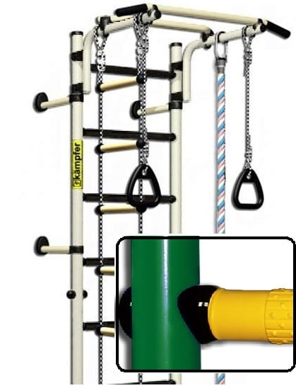 Детский спортивный комплекс Kampfer F0000000195 Strong Kid Wall - зелено-желтый (высота +26 см)