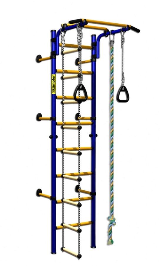 Детский спортивный комплекс Kampfer F0000000195 Strong Kid Wall - сине-желтый (высота +52 см)
