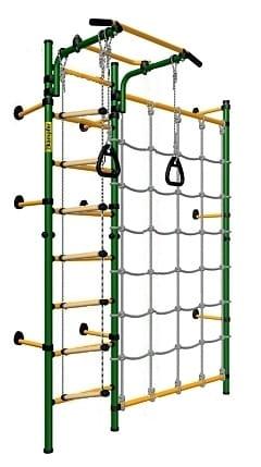 Детский спортивный комплекс KAMPFER Gridline Wall - зелено-желтый