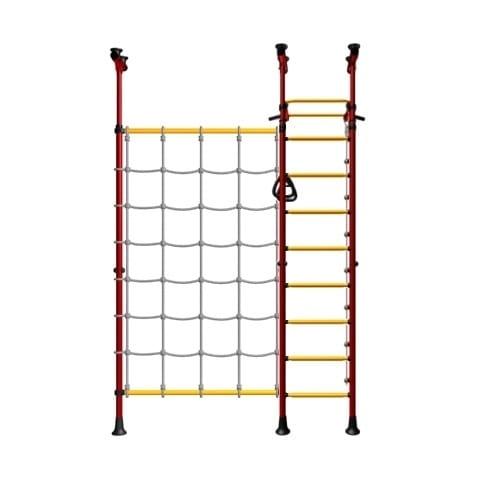 Детский спортивный комплекс KAMPFER Gridline Ceiling - красно-желтый