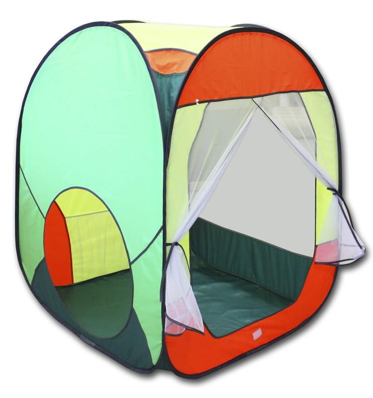 Большая палатка BELON Квадрат (зеленый с красным)
