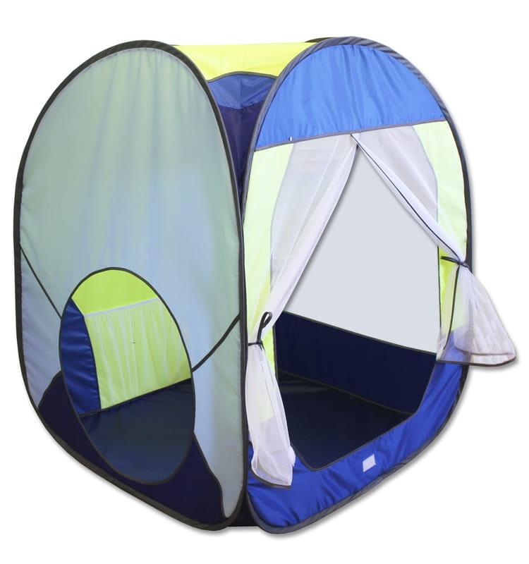 Большая палатка Belon ПИ-004КУ-СТ3 Квадрат (синий с желтым)