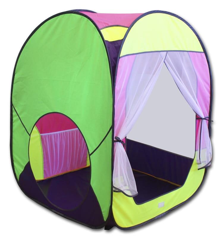 Большая палатка BELON Квадрат (зеленый с розовым)