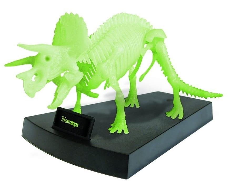 Сборная модель GEOWORLD Скелет трицератопса (светящаяся)