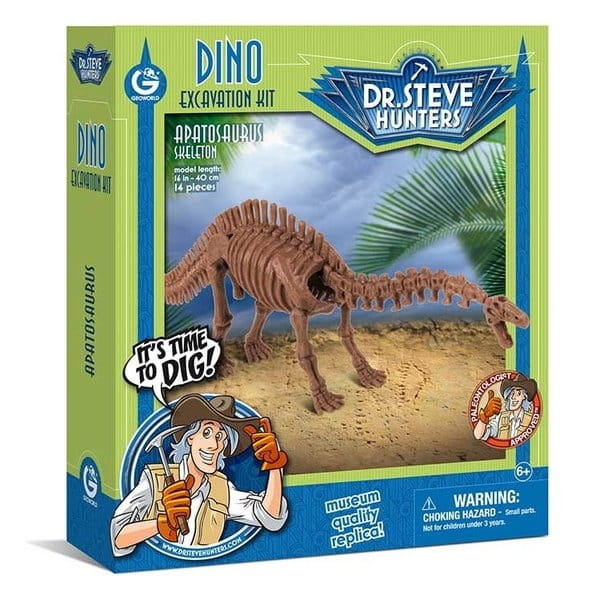 Игровой набор Geoworld CL1673K Dr.Steve для проведения раскопок (апатозавр)