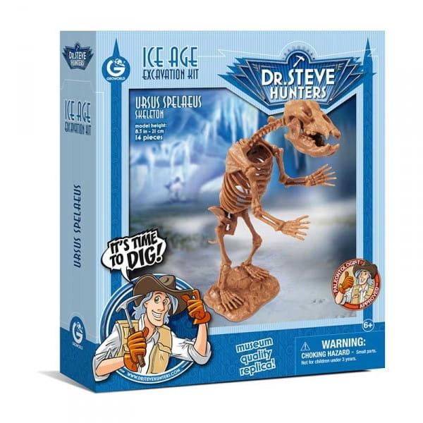 Игровой набор GEOWORLD Dr.Steve для проведения раскопок (пещерный медведь) - Наборы для опытов