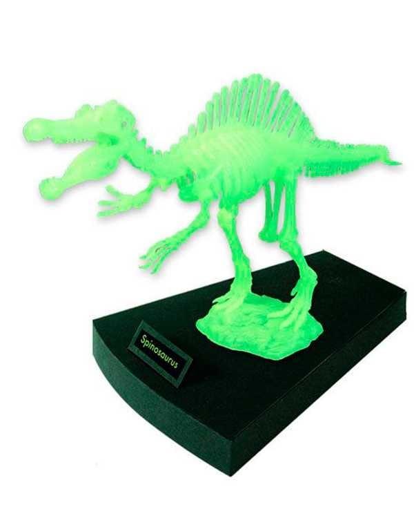 Сборная модель GEOWORLD Скелет спинозавра (светящаяся)