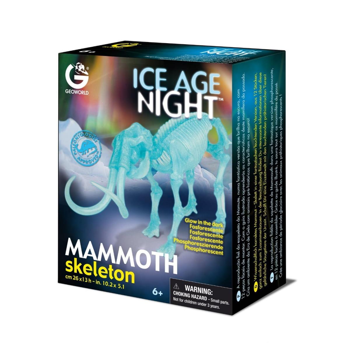 Сборная модель GEOWORLD Скелет мамонта (светящаяся)