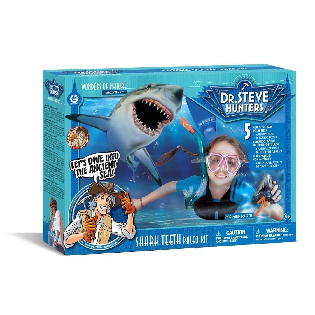 Игровой набор Geoworld ED510K Dr.Steve для проведения раскопок Зубы акулы