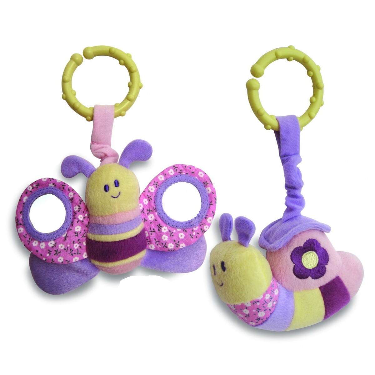 Мягкая игрушка - подвеска LITTLE BIRD TOLD ME Бабочка и улитка