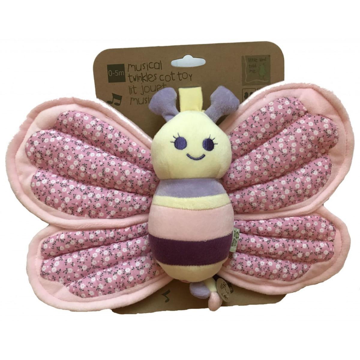 Игрушка  подвеска Little Bird Told Me Музыкальная бабочка - Подвесные игрушки и мобили