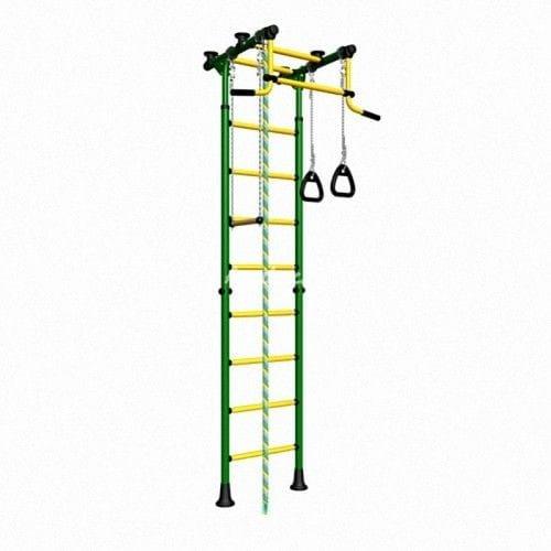 Детский спортивный комплекс Карусель Комета-2 - зелено-желтый (Romana)
