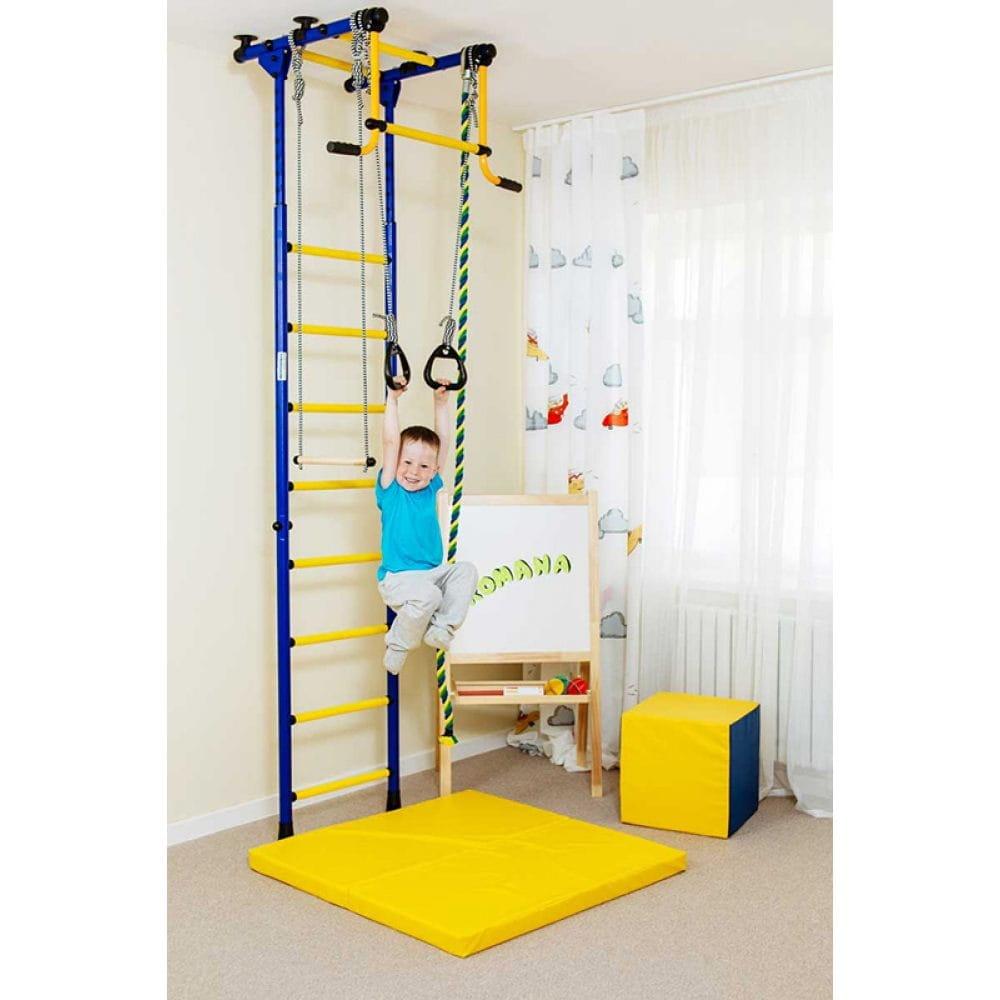 Детский спортивный комплекс Карусель Комета-2 - сине-желтый (Romana)