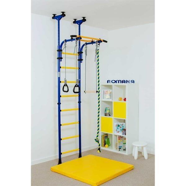Детский спортивный комплекс Карусель Комета-5 - сине-желтый (ROMANA)