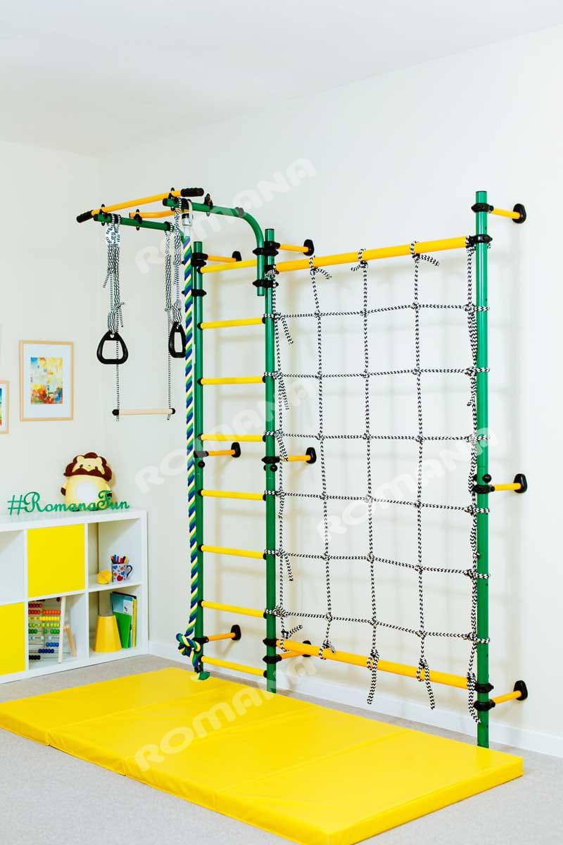 Детский спортивный комплекс Карусель Комета Next-3 - зелено-желтый (ROMANA)