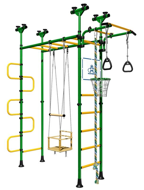 Детский спортивный комплекс Карусель Пегас - зелено-желтый (Romana)