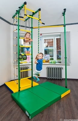 Детский спортивный комплекс Карусель Меркурий-1 - зелено-желтый (ROMANA)