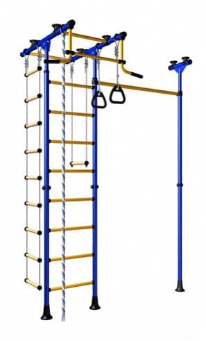 Детский спортивный комплекс Карусель Меркурий-1 - сине-желтый (ROMANA)